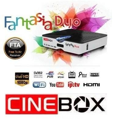 Atualização Cinebox Fantasia Duo HD v.24/07/2016 para canais codificados no 22W