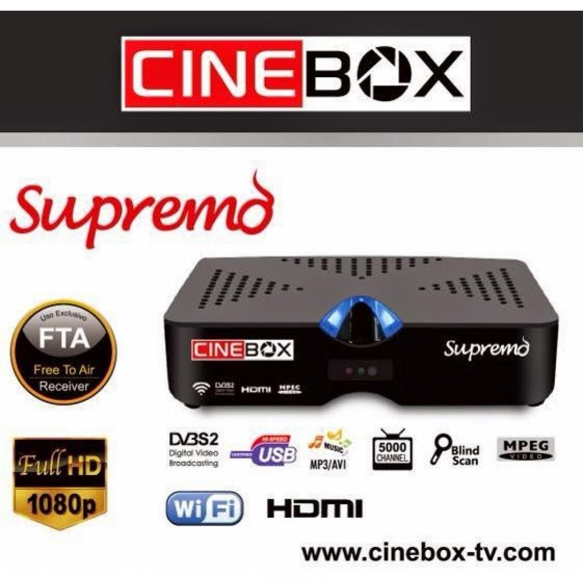 Atualização Cinebox Supremo HD v.24/07/2016