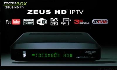 Tocombox Zeus HD IPTV Nova atualização v.3.047 - 11 Outubro 2018