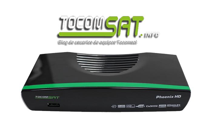 Tocomsat Phoenix HD Nova Atualização v.1.059 - 11 Outubro 2018