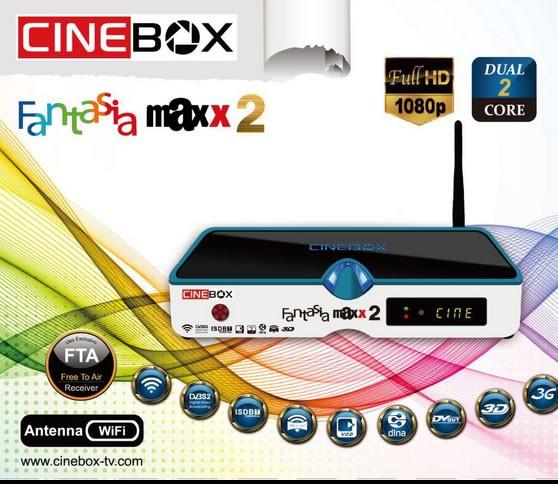 CINEBOX FANTASIA MAXX2 NOVA ATUALIZAÇÃO - 21/09/2018