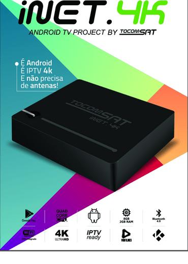 Nova atualização Tocomsat Inet 4k v.2.6.8 - 16/05/2018