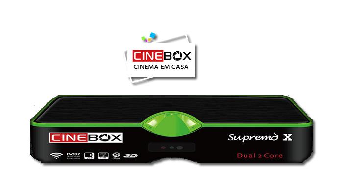 Cinebox Supremo X nova Atualização - 29 outubro 2018