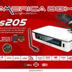 Atualização Americabox s205 v.2.10 - 22 Julho 2017