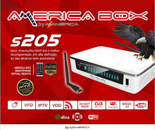 Atualização Americabox s205 HD correção do sistema v.1.09 - Out/2016