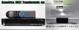Atualização azamerica s922 transformado em tocomsat HD duo v.2.038 - 05/01/17