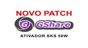 ATUALIZAÇÃO PATCH G-SHARE SKS 58 - 12/08/2017