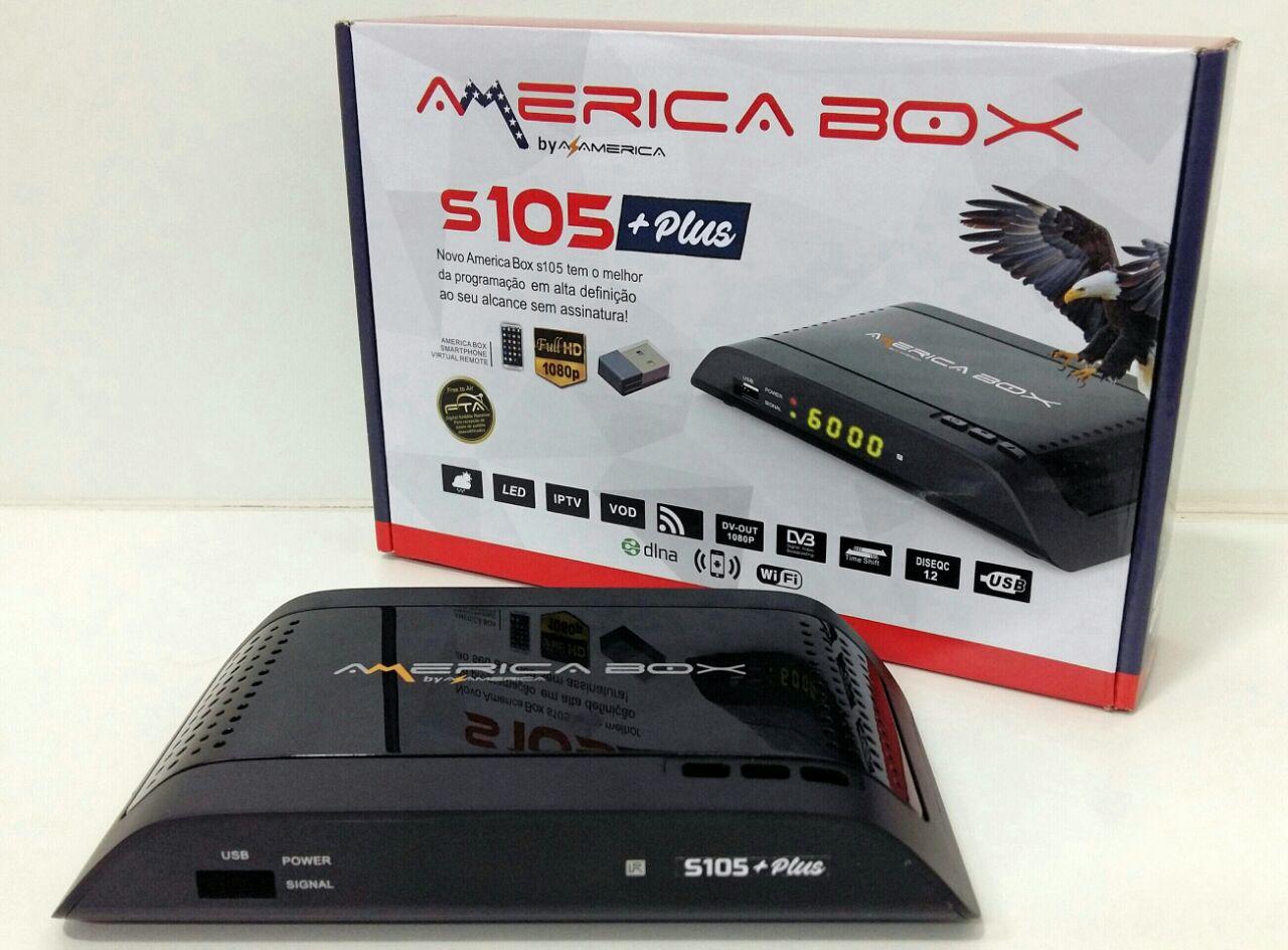 Americabox S105 + Plus Nova Atualização v.2.23 - 17 Outubro 2018