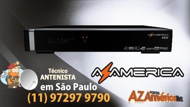 Azamerica S922 transformado em Tocomsat Duo Hd+