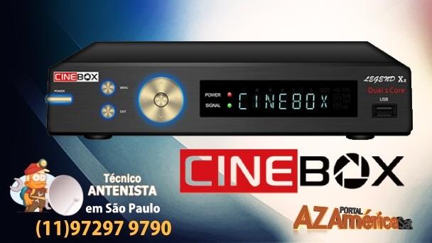 atualização Cinebox Legend X2