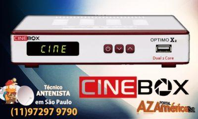 Atualização Cinebox Optimo X2