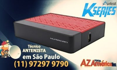 Audisat K20 Huracan Nova Atualização