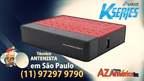 Audisat K20 Huracan Nova Atualização V2.0.44 – 14/12/2019