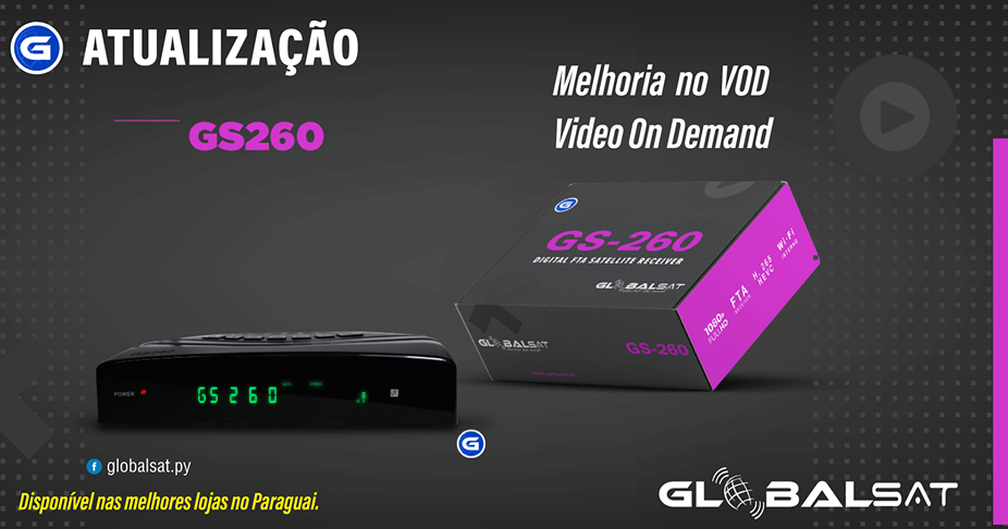 Atualização Globalsat GS260