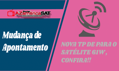 NOVA TP DE APONTAMENTO SATÉLITE AMAZONAS 61W