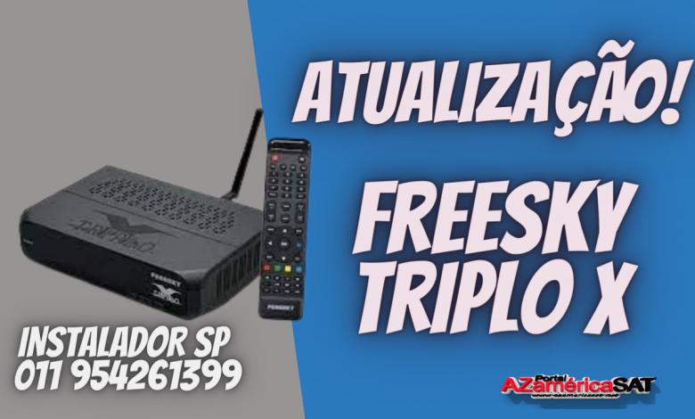 Nova Atualização freesky triplo x nova versão