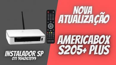 Nova Atualização americabox s205+ plus - sks