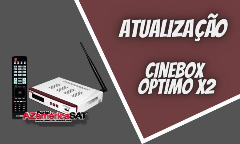 atualização Cinebox Optimo x2 - Azamerica SAT