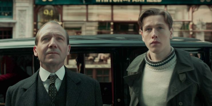 Ralph Fiennes and Harris Dickinson in The Kings Man