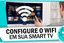 Como conectar uma Samsung Smart TV via cabo ou Wi-Fi
