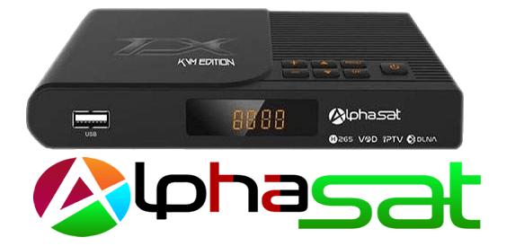 Alphasat TX Nova atualização v.10.09.10.s55 - 16 Outubro 2018